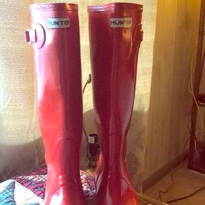Red Hunter water-proof boots